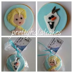 Frozen theme cookies. Elsa and olaf party favors.