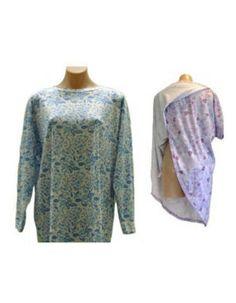 713f2f4e86e Petal Back Nightie Long Sleeve in Adaptive Clothing Womens Women s  Sleepwear Women s Sleepwear