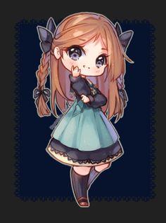 [+Video] commission - cassandra by hyanna-natsu kawaii girl, kawaii anime Chibi Kawaii, Cute Anime Chibi, Anime Neko, Kawaii Anime Girl, Anime Art, Chibi Girl Drawings, Cute Kawaii Drawings, Cute Animal Drawings, Hyanna Natsu