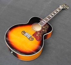 2017 New + Factory + stock product Chibson J200 Sunburst guitar, replica J200 electric acoustic guitar maple top handmade guitar
