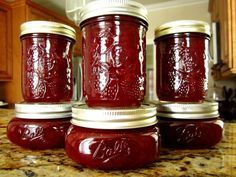 Christmas Jam This festive jam is being posted for a request. I found it recently in a community type cookbook and I havent had a chance to try it yet. Christmas Jam, Christmas Baking, Food Storage, Salsa Dulce, Jam And Jelly, Amish Recipes, Jelly Recipes, Drink Recipes, Canning Recipes