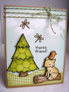 Lawn Fawn Critters in the Forest  Thanks friend by handmadebysm, via Flickr