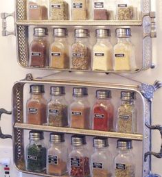 Silver Spice Rack   Easy Organization Ideas for the Home