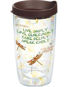 Reminds me of Edie.....the dragonflys and the thought  New Arrivals Inspirational Dragonflies - New 24oz Tervis
