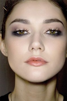 Feeling adventurous? Try blending a smoky dark shadow into your bottom lash line and leaving the top bare or blending in just a touch of a colored shadow for contrast.