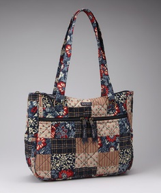 Take a look at this Navy & Red Indigo Patch Everyday Satchel by Bella Taylor Handbags on #zulily today!