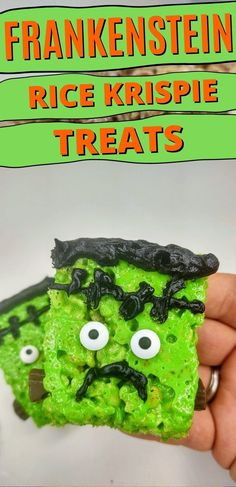 If you love this time of year, this is the creepy snack for you. Try out this easy, no bake recipe for Frankenstein Rice Krispie Treats today! #nobakedesserts #easydesserts #ricekrispietreats #halloween Rice Krispie Treats, Rice Krispies, No Bake Desserts, Easy Desserts, Avocado Toast, Baking Recipes, Snacks, Breakfast, Food