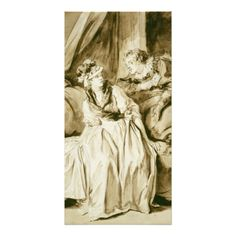 The Letter (Spanish Conversation) by Fragonard Photo Cards