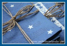 Starry Night Dyed Book Pages Star