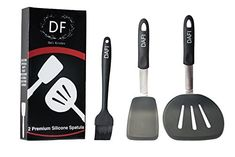 Dafi Kitchen 2 Premium Silicone Spatula Set  Silicone Cooking Utensils  Flexible Silicone Turner  Stainless Steel  HeatResistant 600F  Cooking Set * Continue to the product at the image link.-It is an affiliate link to Amazon. #KitchenUtensils