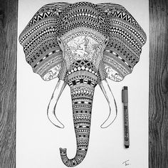 'An Elephant Never Forgets'    I've added some final shading and now he's ready to be shipped to his new home in California for @feralcity! To any US followers keep an eye out for some Tobias Illustration apparel coming from them very soon. A link to their websites on my facebook page.    #wildlife #art #tobiasillustrations