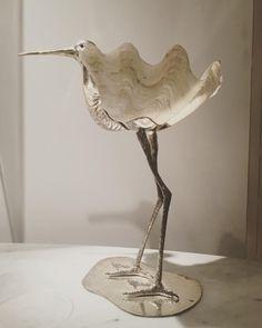 Sculpture Oiseau Coquillage Et Métal Circa 1970, 1970 Karine Szanto, Proantic