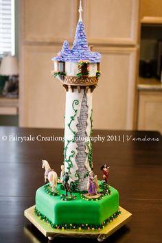 "My Daughters ""Tangled"" inspired Birthday Cake :)"