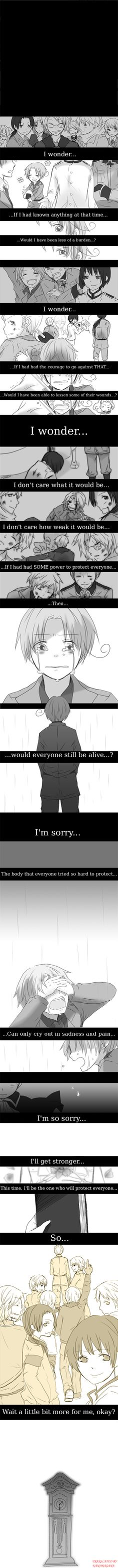 I regret reading this at school... people looked at me weirdly for crying so suddenly... feels... T-T