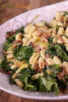 This creamy & delicious Cavatelli with Spinach & Prosciutto pasta will be a new staple in your house!