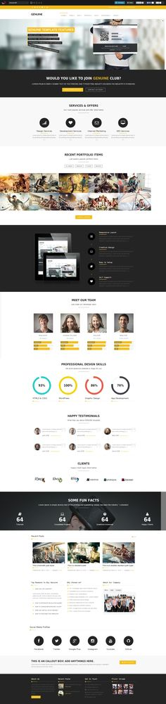 Web page design - One page format
