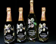 This Artist Crafted a Studded Perrier-Jouet Bottle for Charity #Luxury #Drinks