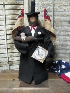 Olde Abe Lincoln~ by Folk Artist Sue Corlett. New items available every Sunday. Follow me on Facebook for details.