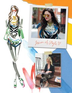 travel write draw: LIVE fashion illustrating with lexicon of style
