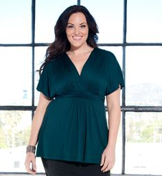 Plus Size Tops for Women - Backstage Dolman Sleeve Top by Kiyonna