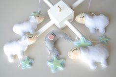 GLOW in the DARK Sheeps Baby Mobile Crib Mobile by TheMemis, $90.00