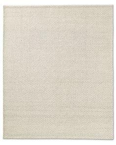 Diamond Lattice Wool Rug - Cream
