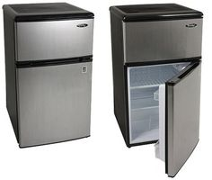 "Danby Under-Counter Fridge - $268 at Compact Appliance. 3.1 cubic feet, 18"" wide, 34"" tall."
