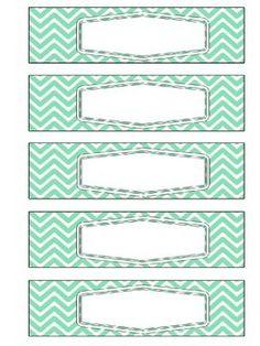 Sterilite 5 Drawer Labels: Coral & Mint                              …