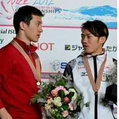With Patrick Chan(Canada)