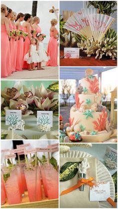 Coral Beach Wedding Ideas from HotRef.com #beachwedding