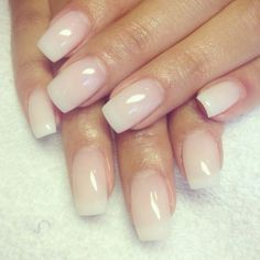 Beautiful Nude Acrylic Nails