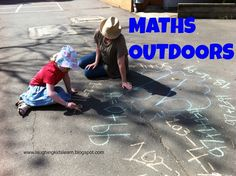 Maths can be done outdoors and here is a simple task children can do that suits all skill levels.  (Laughing Kids Learn)