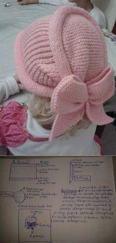 33 Ideas For Crochet Baby Turban Pattern Beanie Hats Baby Knitting Patterns, Knitting For Kids, Knitting Designs, Hand Knitting, Crochet Patterns, Bonnet Crochet, Crochet Beanie, Knitted Hats, Crochet Hats