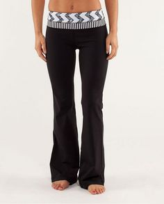 Lululemon Yoga Groove Pant Fade Arrow Classic Stripe Black White - discounted!
