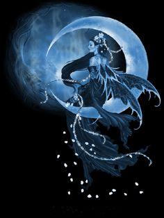 imaginaire fees - Page 4 Magical Creatures, Fantasy Creatures, Moon Fairy, Fairy Pictures, Gothic Fairy, Beautiful Fairies, Fairy Dust, Dark Fantasy, Pixies