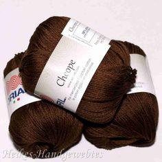 Cheope Brau von Adriafil - Heikes Handgewebtes edel feine 100 % ägyptische Baumwolle für höchste Ansprüche. noble fine 100% Egyptian cotton for high performance. 50g = 135 m LL