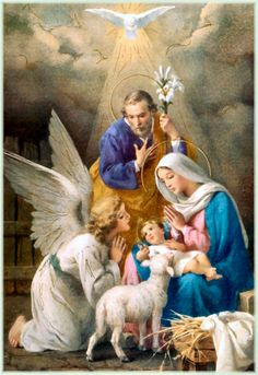 Nativity of Jesus Christ - Old pictures with depictions of Virgin Mary and Nativity of Child Jesus. Religious Pictures, Jesus Pictures, Religious Art, Christmas Scenes, Christmas Nativity, Christmas Pictures, Image Jesus, Jesus Photo, Blessed Mother Mary