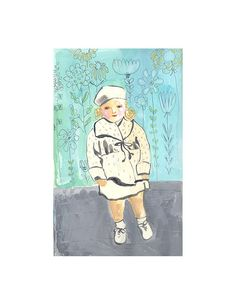 Young Girl in Garden  Archival Print by augustwren on Etsy, $18.00