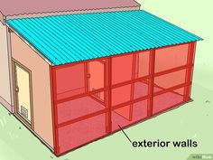 How to Add a Lean To Onto a Shed. When your shed or other storage building no longer provides enough room, you can add additional storage if you add a lean-to onto a shed. If the existing shed is structurally sound and has an exterior wall. 10x12 Shed Plans, Lean To Shed Plans, Diy Shed Plans, Lean To Carport, Lean To Roof, Carport Garage, Diy Storage Shed, Built In Storage, Secret Storage