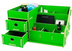 Menu Life Home Office Desk Storage Organiser Boxes Lady Jewellery Storage Boxes Jewelry and Cosmetic Storage Wood Makeup Organizer (Green) Menu Life