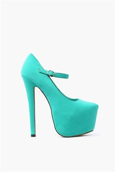 Sally Mary Janes -Mint / Sea Green. Such cute heels!