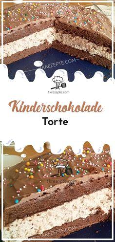 Kinderschokolade Torte - ZUTATEN : Für den Teig: 150 g Butter 150 g Zucker 1 Pck. Vanillinzucker 150 g Schokolade (Kindersc - Simple Snowflake, Snowflake Craft, Torte Au Chocolat, Zucchini Curry, Chocolate Pies, Vanilla Sugar, Cake Ingredients, Easy Cake Recipes, Sweets