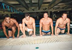 cullen jones, nathan adrian, ryan lochte, & brendan hansen... this is why I love the Olympics!