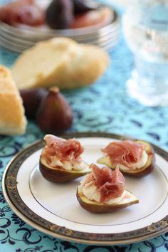 Prosciutto with Figs and Mascarpone