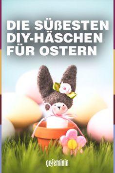 Osterhasen basteln: Süße Osterdeko zum Selbermachen Origami Folding, Cute Bunny, Book Folding, Colouring Pencils