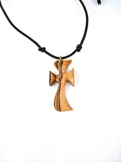 Wood Cross Pendant Wood Cross Necklace Wood by GatewayAlpha, $18.95
