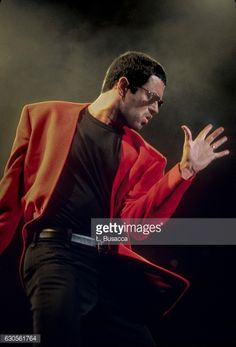 Singer George Michael performs in concert circa 1992 in New York City