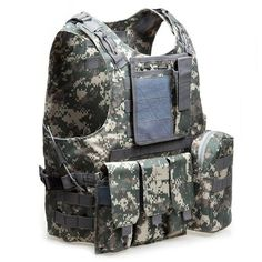Amphibious Tactical Vest Military Molle Waistcoat Combat Assault Plate Carrier Vest for Outdooor Hunting