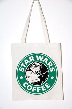 Star Wars Coffe Jutebeutel von Vintage-Massacre auf DaWanda.com