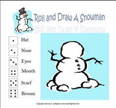 Roll & Draw a Snowman